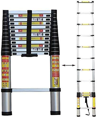 HUIQIN Folding ladder,Telescopic Ladder - Folding Ladder Aluminium Telescopic Extension Portable 150Kg Max Capacity,Large Muti-Purpose Loft Step Ladders,1.4m/4.6ft (Size : 5.4m/17.7ft)