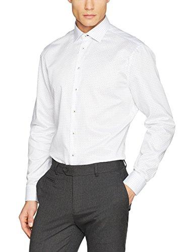 Jacques Britt Herren Como (106) Businesshemd, Weiß (Weiss 1), X-Large (Herstellergröße: 44XL)