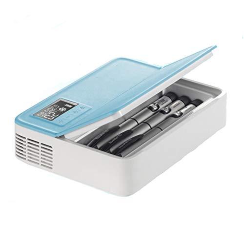 Koelbox voor in de koelkast, blauw, draagbare Smart Home Car (twee ingebouwde batterijen).