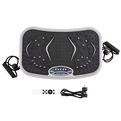 ZELUS Plataforma de Vibratoria para Adelgazar con 99 Niveles de Velocidades Plataforma de Vibratoria con Bandas y Asas Máquina de Vibratoria de Fitness con Mando a Distancia
