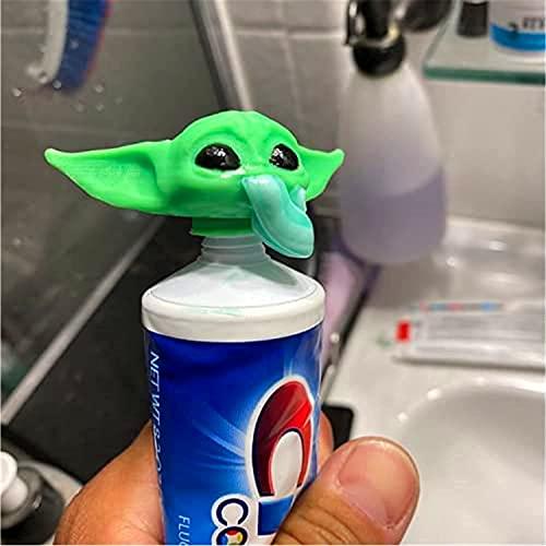 2021 Upgrade G-rugu Zahnpasta Topper - Baby Y-oda Verschließende Zahnpastakappen für die Badezimmerhygiene, Zahnpastakappe, Spender, Badaccessoires Geschenke für Filmfans