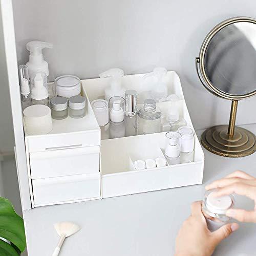 ZHAS Kosmetische Aufbewahrungsbox Kosmetische Aufbewahrungsbox mit großer Kapazität Schubladen-Make-up-Frisierkommode Hautpflege-Rack Handy-Schmutzbehälter