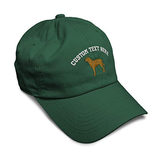 Custom Soft Baseball Cap Chesapeake Embroidery Pets Dogs Twill Cotton Dad Hats for Men & Women Buckle Closure Forest Green Personalized Text Here