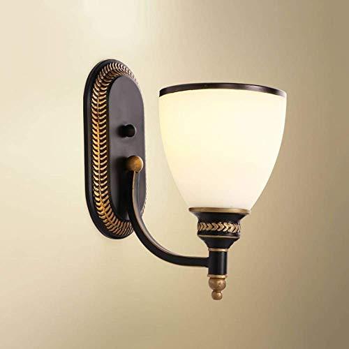 lámpara de Pared Pared cerrajería Simple Pared Aplique Cabeza Cabeza Cabeza Sala de Turismo Mesa de Noche Mesa de Noche Sala de Estar de Paredes minerales lámpara de Pared lámpara de.