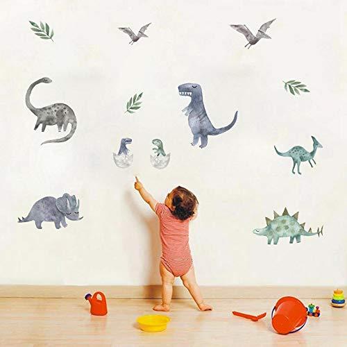 JUNZE Pegatinas de Pared de Dinosaurio Personalidad autoadhesiva habitación de los niños decoración de Pared de Dibujos Animados Pegatinas de Graffiti de PVC