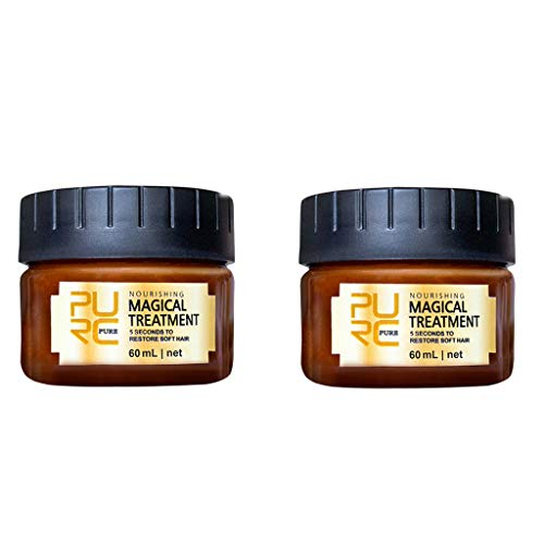 Momola 2PCs Hair Mask,Hair Perfector Repairing Treatment,Advanced Molecular Hair Roots Treatmen for Women and Men,Prevents Frizz,Hydrating Argan Oil Hair Mask and Deep Conditioner for All Hair Types