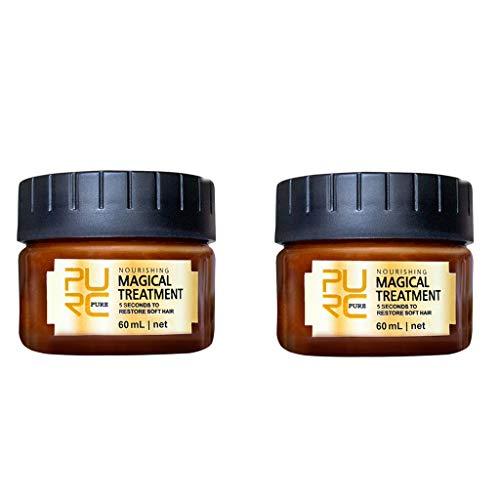 Dinglong 2PCS Hair Serum, Revitalisant Cheveux Racines Traitement Traitement RéParation Retour Hydratant Dynamisant Nourrissant, Soin Capillaire RéParateur, pour Cheveux Sains Et Solides