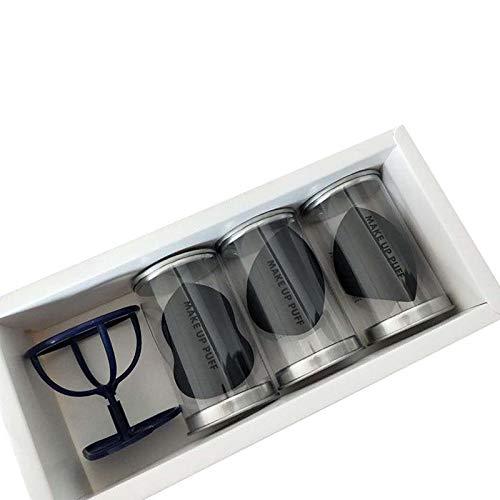 Honrik Makeup Sponge Set, Flawless Makeup Blender for Foundations Powders and Creams Non-Allergenic and Odour Free Sponges Blender 3Pcs Makeup Blender Sponges + 1Pcs Egg Powder Puff Display Stand