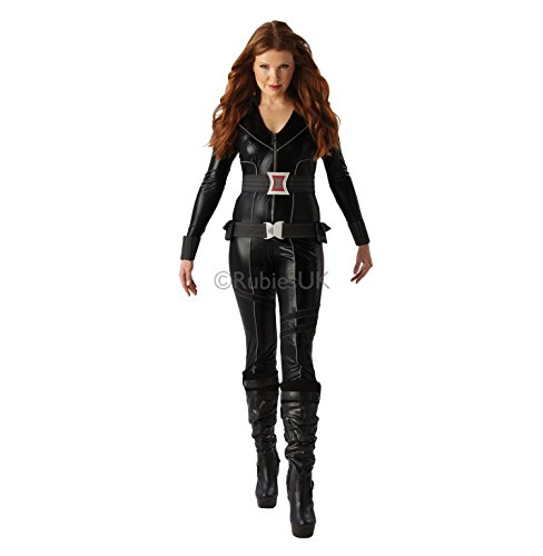 Rubies'sDisfraz Oficial de Marvel, Viuda Negra, para Adultos Oficial, Talla Mediana, Color Negro