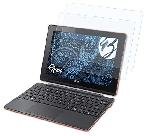 Bruni Schutzfolie kompatibel mit Acer Aspire Switch 10 E SW3-013 Folie, glasklare Bildschirmschutzfolie (2X)