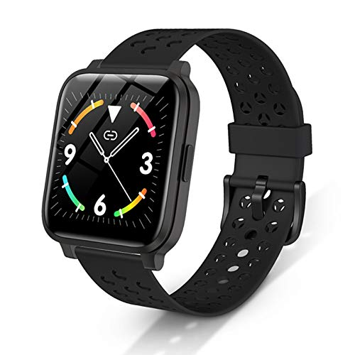 RONG HOME Fitness Tracker Smart Watch Impermeable Touch Touch Pantalla táctil Monitores Monitores Monitores Saludable Sueño para Android iPhone,Negro