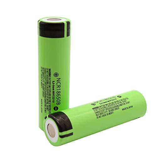 2Pcs 18650 Batería 18650B 3.7V 3400 Mah 18650 Batería De Litio Baterías De Linterna