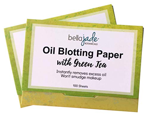 Oil Blotting Paper Sheets - Instantly Absorbs Excess Oil and Shine from Face without Smudging Makeup - Large size, 200 Tissues ... (charcoal)