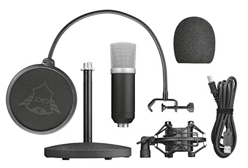 Trust Gaming Emita USB Studio Mikrofon für PC, PS4 und PS5 - schwarz