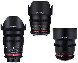 Rokinon Cine DS Portrait Lens Bundle Consists of 35mm T1.5, 50mm T1.5, 85mm T1.5 for Micro Four Thirds