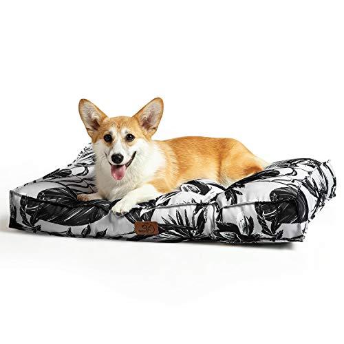 Bedsure Hundekissen für Kleine Hunde Wasserdicht 75 x 50 cm - Gepolstert Hundematte Hundebett Waschbar Outdoor Geeignet Köstliches Fensterblatt
