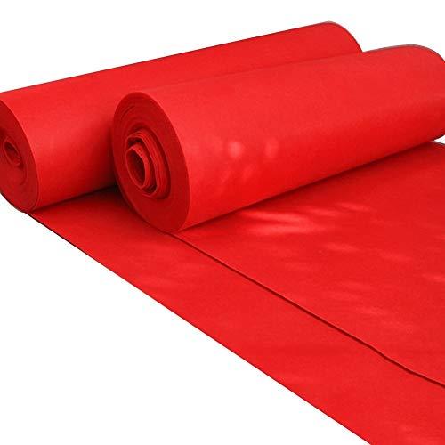 ALFYMX moqueta por Metros Alfombra, Alfombra roja desechable para Bodas, Alfombra para Eventos de Bodas, exhibición de celebración, Alfombra roja Alfombra roja (Size : 1.5 * 20m)