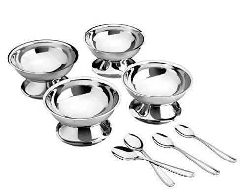 Kit para Sobremesa Aço Inox com 8 Peças Tramontina Service Prata