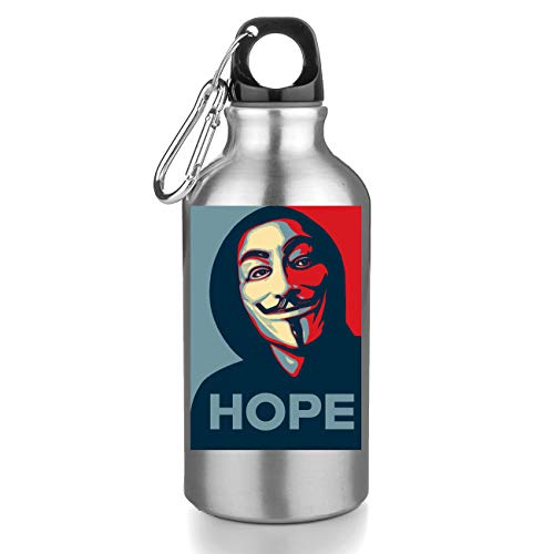Hope Anonymous Mask Graphic Bouteille INOX Gourde Sport Camping Tourist Water Bottle