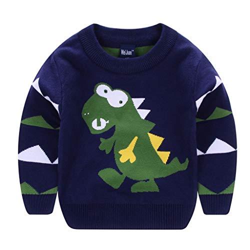 Fandecie Kinder Rundhals Christmas Sweater Jungen Weihnachtspullover Strickjacken Gestrickt Strickpullover Herbst Winter Langarm Sweater Pullis