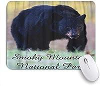 マウスパッド 個性的 おしゃれ 柔軟 かわいい ゴム製裏面 ゲーミングマウスパッド PC ノートパソコン オフィス用 デスクマット 滑り止め 耐久性が良い おもしろいパターン (グレートスモーキーマウンテン国立公園動物ブラックベア景色)