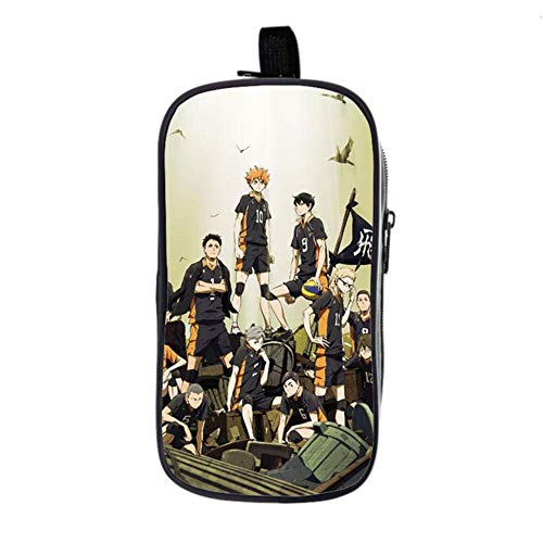 bgdo.cccc Anime Haikyu!! Cosplay Backpack School Bags for Teenagers Boys Girls Travel Backpack Women Men,Pencil case 2