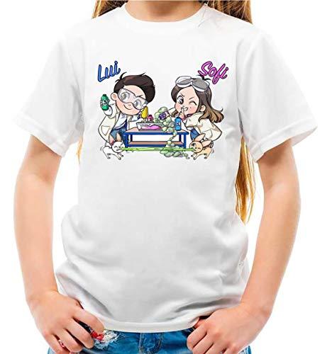Maglietta Youtuber Lui e Sofi Slime Lab Bambina e Bambino (5-6 Anni)