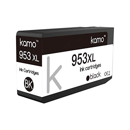 Kamo 953XL Negro Cartucho Compatible con HP 953 953XL Cartucho de Tinta; OfficeJet Pro 7720, 7730, 7740, 8210, 8218, 8710, 8715, 8718, 8720, 8725, 8728, 8730, 8740 (1x Negro)