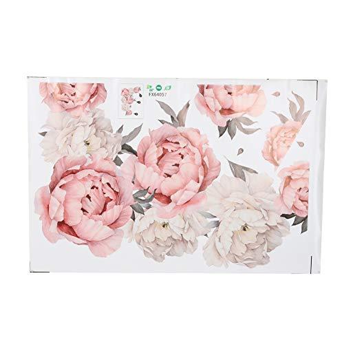 ROSEBEAR Wandaufkleber Pfingstrose Blumen Musterkunst Applikation Schlafzimmer Dekoration Hintergrundaufkleber