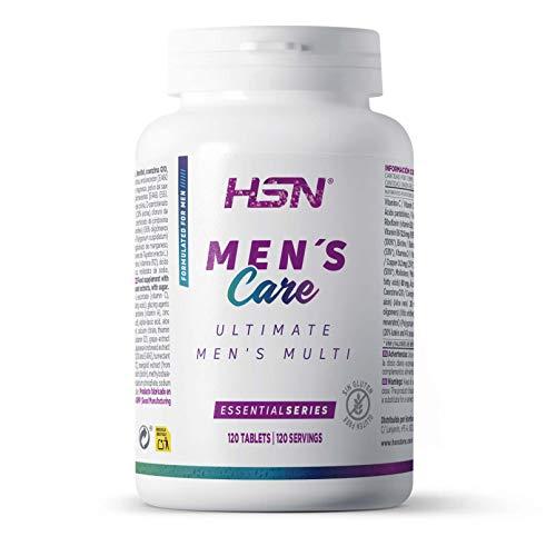 Multivitamínico para Hombres de HSN Ultimate Men\'s Multi | Complejo de Vitaminas y Minerales, Extractos Herbales | Sin Gluten, Sin Lactosa, 120 Tabletas