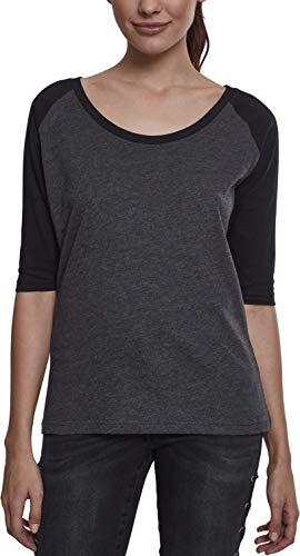 Urban Classics Ladies 3/4 Contrast Raglan tee Camiseta, carb