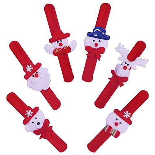 HNHT Een Pack van 12 Kerst Polsband Armbanden, Slaps, Polsbanden, Kerstmis, Feestzakken, Kinderen Volwassen Geschenken