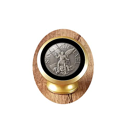 asd Archangel St.Michael Protect Me Saint Shield - Soporte magnético para coche