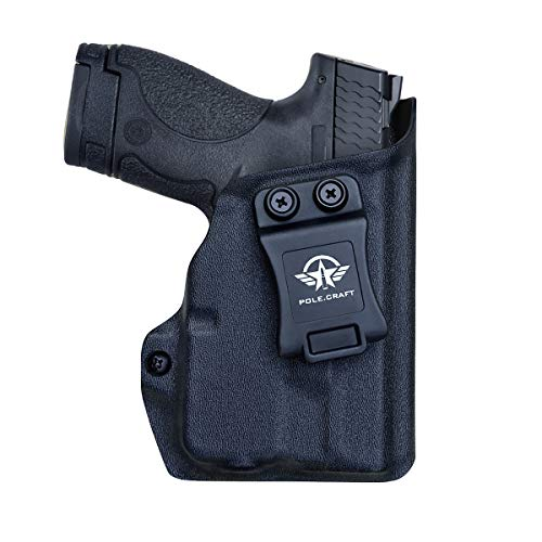 M&P Shield 40 Holster with TLR-6 Light Laser for Smith & Wesson M&P Shield 9mm/.40 w/TLR-6 - Inside Waistband Carry Concealed Holster M&P Shield 9mm with Laser (Black, Right Hand)