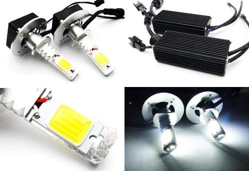 2 x Blanc H1 448 ampoule CANBUS COB LED 40 W 3200LM Phare veilleuses circulation diurnes DRL lampe de brouillard