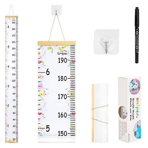 Regla para Colgar en la Pared para Bebés, Con Tabla de Crecimiento para Bebés para Decoración de Habitación de Guardería 200 x 20 cm