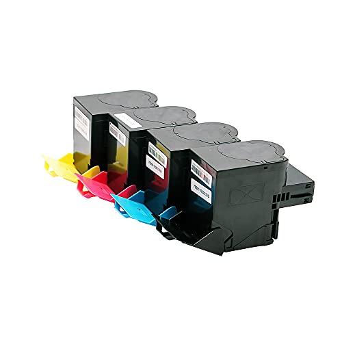 Set 4X Alternativ Toner für Lexmark CX310 Series CX310dn CX310n CX410de CX410dte CX410e CX410 CX510de CX510dhe CX510dthe CX510 802 802S 802SK 802SC 802SM 802SY von ABC
