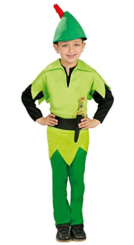 Guirca Vestito Peter Pan Bambino, 5-6 anni