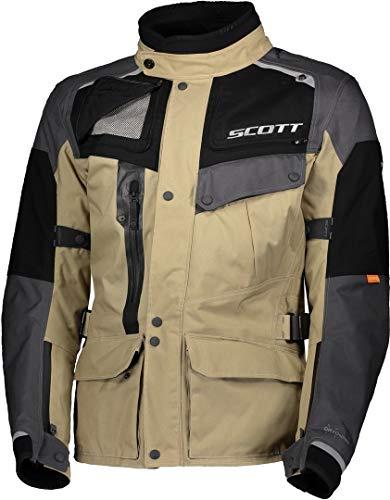 Scott Voyager Dryo Motorrad Jacke beige/grau 2020: Größe: XL (52/54)