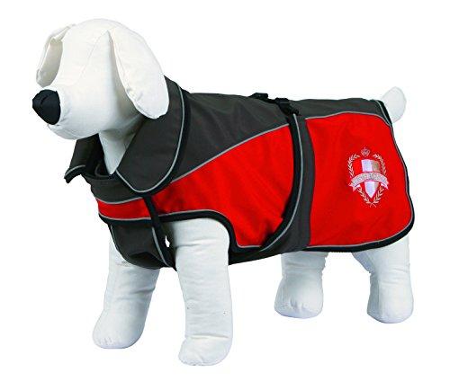 Kerbl Hunde Softshellmantel Lathi, Hundemantel, Fleeceinnenfutter, Grau/Rot M