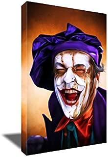 Jack Nicholson Joker Canvas Boo Painting Poster Artwork on Canvas Art Print (16x24 inches)
