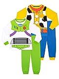 Disney Pijamas para Niños 2 Paquetes Ajuste Toy Story Multicolor 3-4 Años