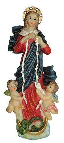 Ferrari & Arrighetti Estatua Virgen Desatanudos de 12 cm con Caja de Regalo y marcapáginas (en ES/IN/FR(IT)