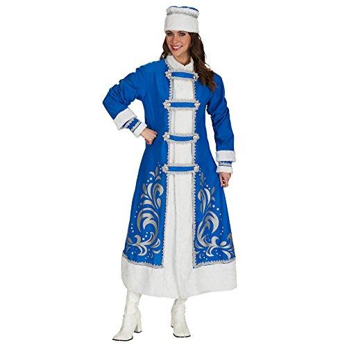 Andrea-Moden Zarin Katharina Kostüm Fell Folklore Mantel mit Mütze zum Karneval blau weiß - 40/42