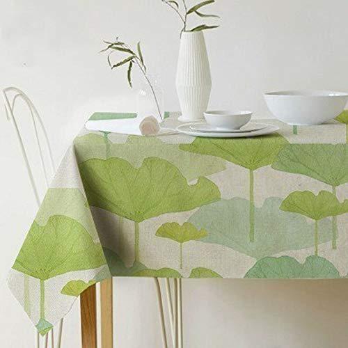 Tafelkleed, Scandinavisch, palmbladen, plant, tafelkleed bedrukt, waterbestendig, linnen, polyester, rechthoekig, eettafel van stof 140x260cm