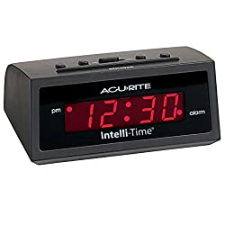 AcuRite 13002 Intelli-Time Digital Alarm Clock