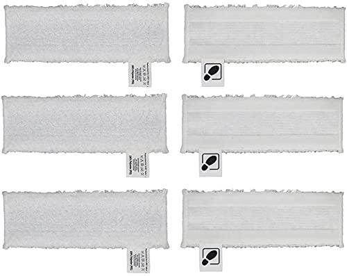 Juego de paños de microfibra compatibles con Easyfix, juego de paños de suelo, almohadillas de microfibra de repuesto para limpiador a vapor Kärcher EasyFix SC 2, SC 3, SC 4, SC 5 y boquilla de suelo