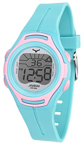 WUTAN Watches for Girls Boys Digital with Day Date Alarm Adorable Wrist Watch Girl Sport Waterproof Wrist Watches for Kids Children (Kids Digital watch-9690-2-blue)