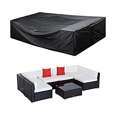 "Patio Furniture Set Cover Outdoor Sectional Sofa Set Covers Waterproof Outdoor Dining Table Chair Set Cover Heavy Duty 128"" L x 83"" W x 28"" H"