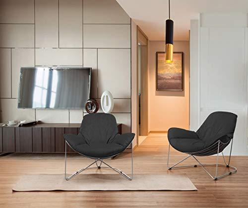 KAWOLA Sessel OSCA Loungesessel Relax-Sesssel Stoff schwarz (B/H/T) 80x72x90cm